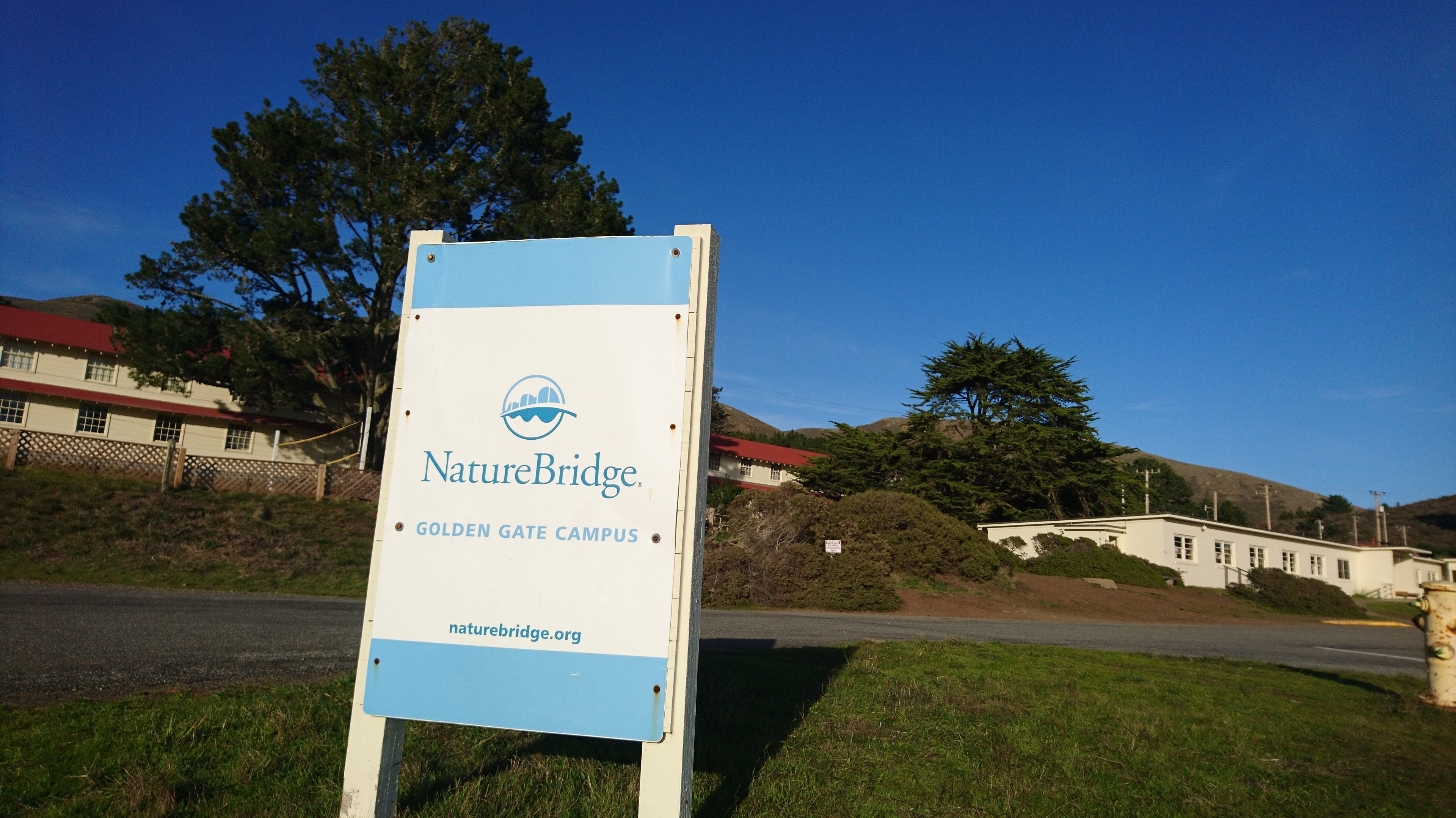 Photo of NatureBridge signage in front of some of their buildings
